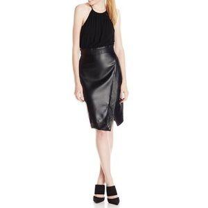 NWT 🥳Xoxo faux leather asymmetrical dress size 0